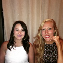With the bride at the rehearsal dinner